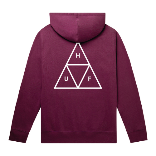 HUF SWEAT HOOD ESSENTIALS TT RIO RED