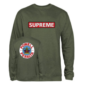 POWELL PERALTA SWEAT SUPREME CREW ARMY